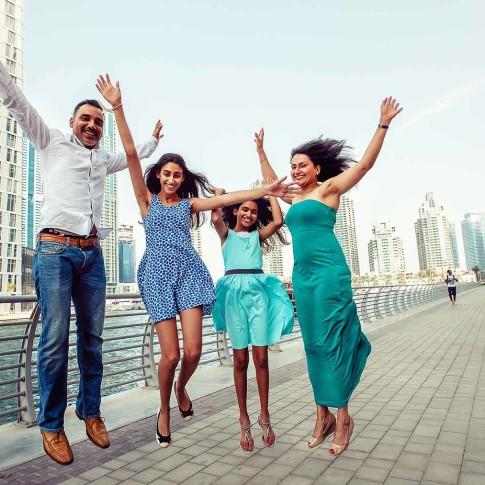 Family Portraits Photographers in Dubai, Blue eye picture studio